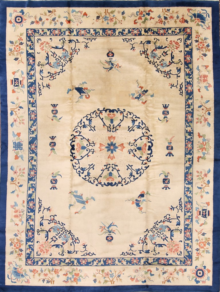 8'9 x 11'9 Hand-knotted Antique Wool Chinese Art Deco Nichols Rug 12980536 (1)
