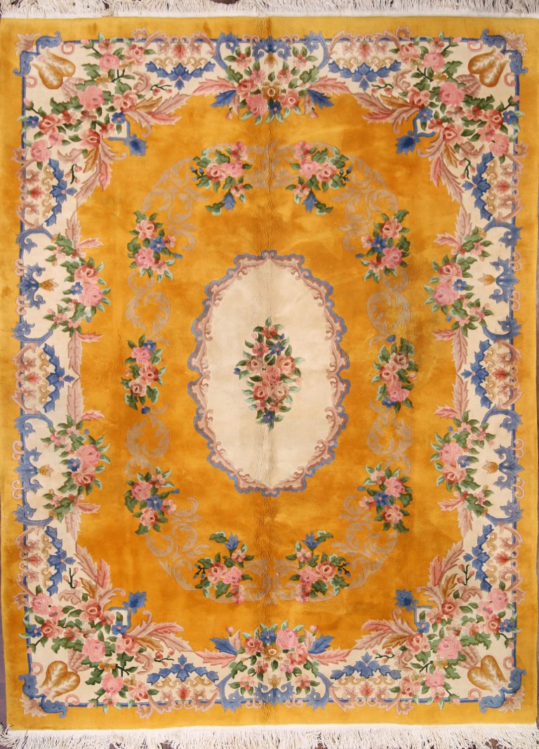 9′ x 11'10 Hand-knotted Semi-Antique Wool Chinese Art Deco Nichols Rug 12980534 (1)
