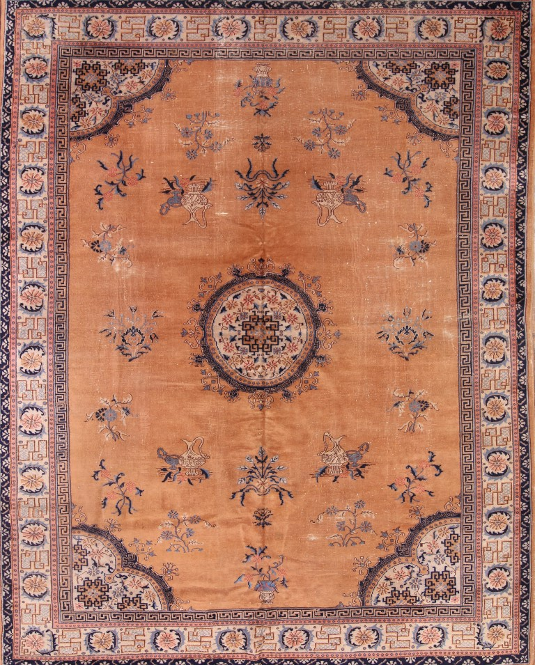 9'4 x 11'8 Hand-knotted Antique Wool Chinese Art Deco Nichols Rug 12980533 (1)