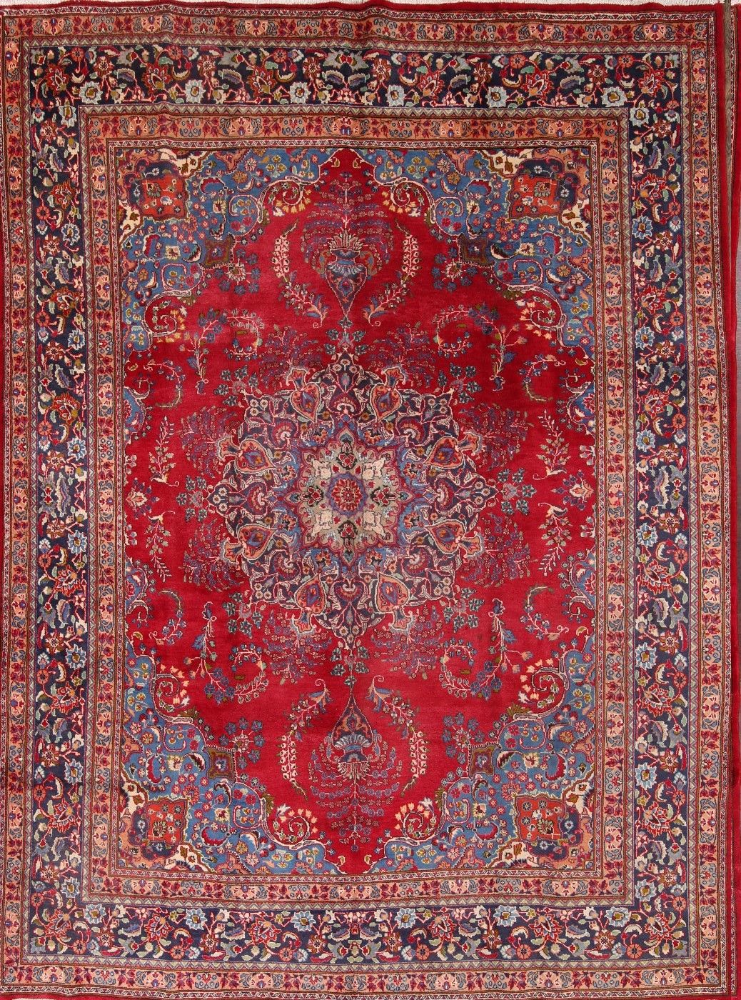 9'9 x 13′ Hand-knotted Red Persian Mashad Oriental Area Rug 12980454 (20)