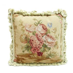 """18"""" x 18"""" Handmade Wool Needlepoint Petit Point Cushion Cover Pillow Case"""