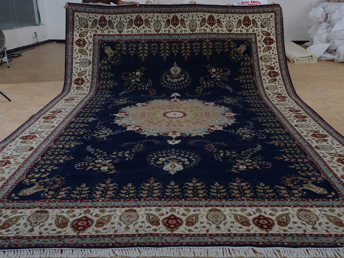 10′ x 16′ Hand-knotted Brand New Wool and Silk Sino-Persian Tabriz Oriental Area Rug 12980769