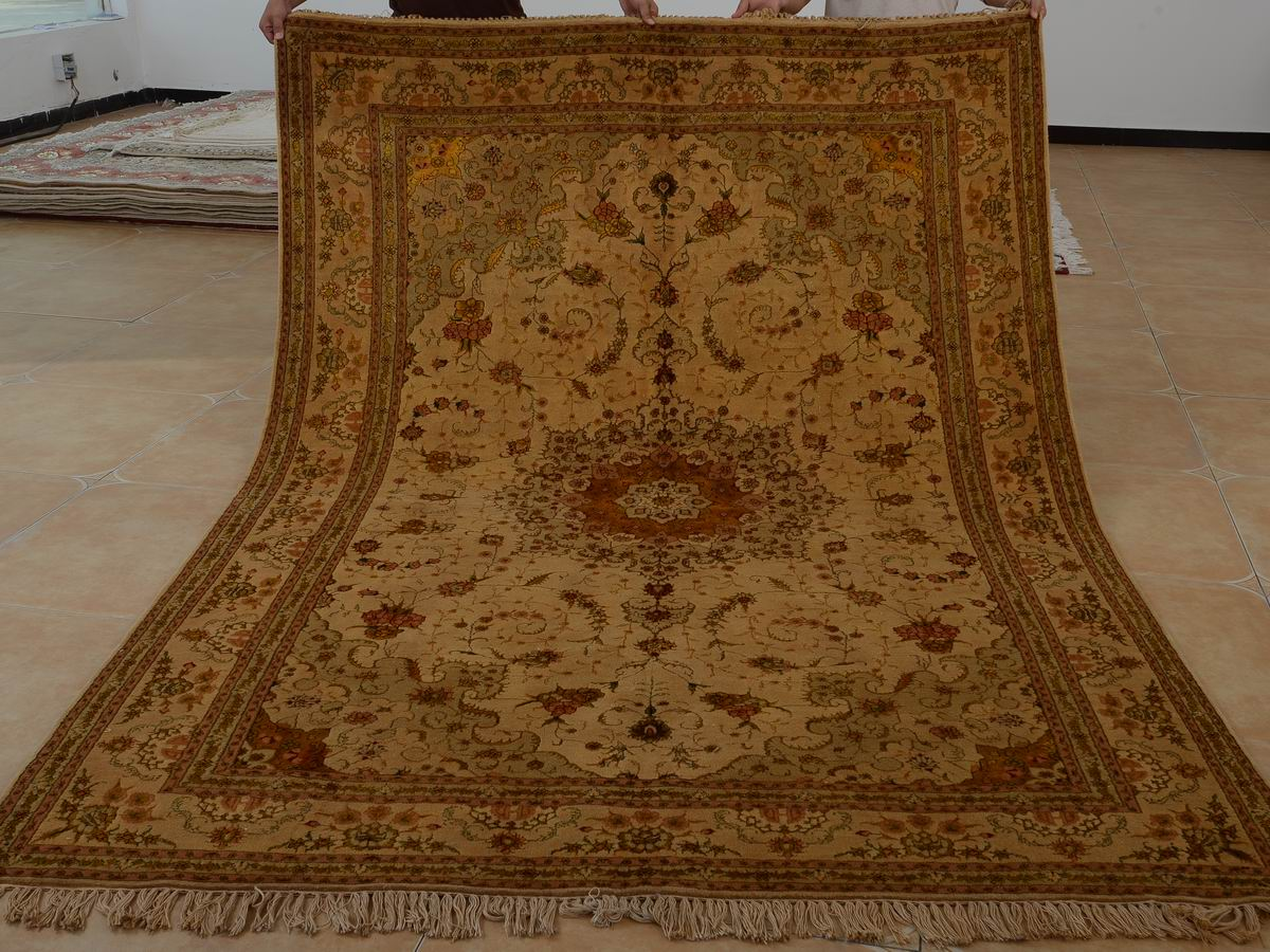 6′ x 9′ Hand-knotted Brand New Wool and Silk Sino-Persian Tabriz Oriental Area Rug 12980704