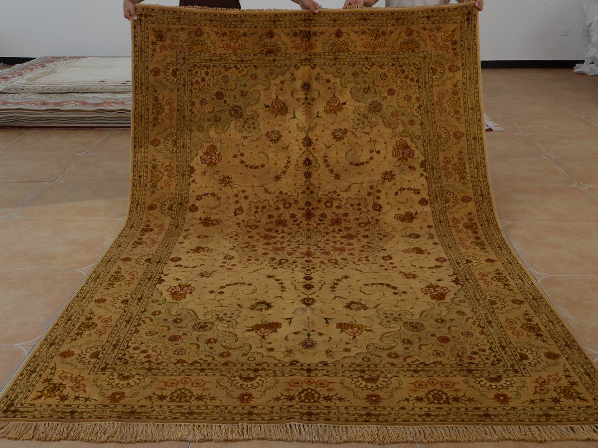 6′ x 9′ Hand-knotted Brand New Wool and Silk Sino-Persian Tabriz Oriental Area Rug 12980710
