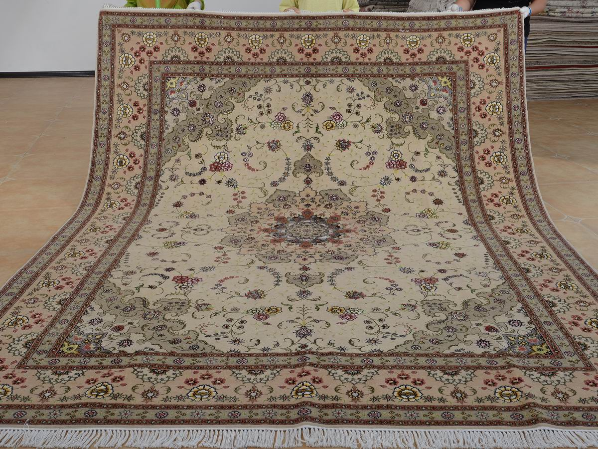 8′ x 10′ Hand-knotted Brand New Wool and Silk Sino-Persian Tabriz Oriental Area Rug 12980584