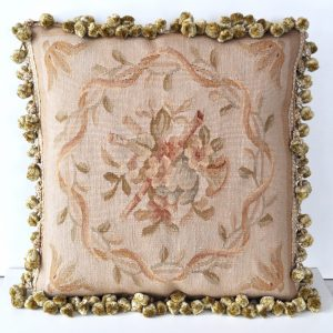 18 x 18 Handmade French Gobelins Tapestry Weave Wool Aubusson Musical Instruments Cushion Cover Pillow Case 12980780