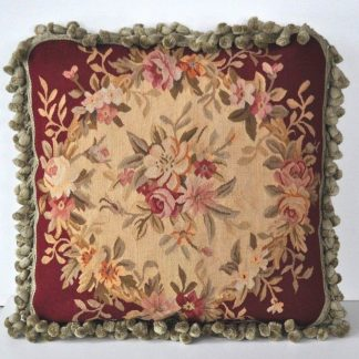 "18"" x 18"" Handmade French Gobelins Tapestry Weave Wool Aubusson Cushion Cover Pillow Case 12980778"