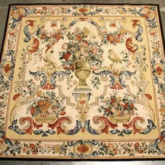 "6'1""W x 6'1""H Hand-woven French Gobelins Weave Wool Aubusson Tapestry Wall Hanging 12980781"
