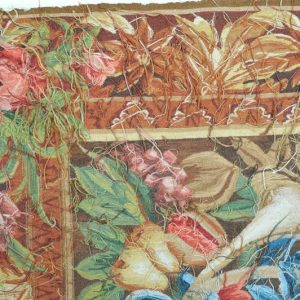 7'W x 5'2H Hand-woven French Gobelins Weave Wool Aubusson Tapestry Wall Hanging 12980783