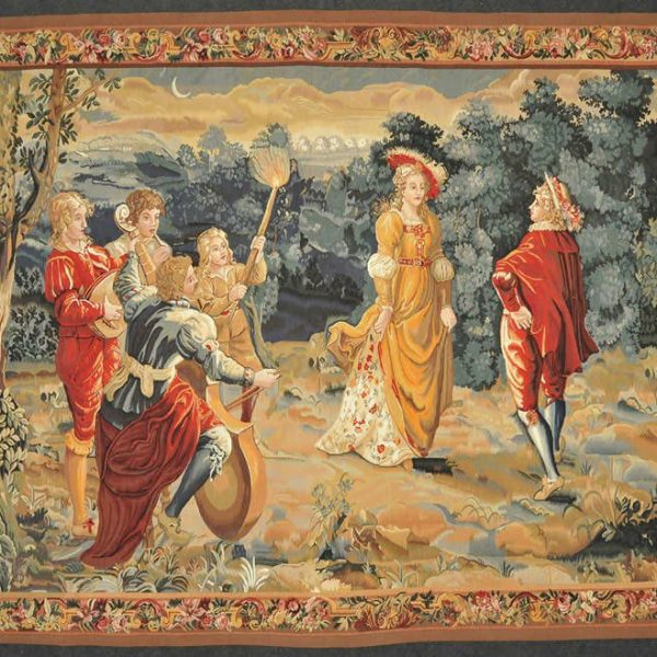 8'W x 6'2H Hand-woven French Gobelins Weave Wool Aubusson Tapestry Wall Hanging 12980782