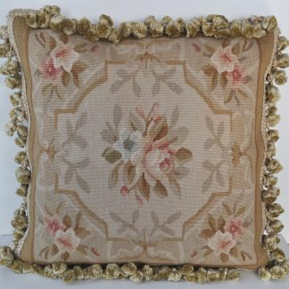 "18"" x 18"" Hand-woven French Gobelins Tapestry Weave Wool Aubusson Cushion Cover Pillow Case 12980788"