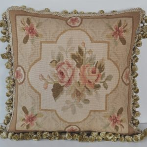"18"" x 18"" Hand-woven French Gobelins Tapestry Weave Wool Aubusson Cushion Cover Pillow Case 12980791"