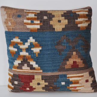 "18"" x 18"" Hand-woven Wool Kilim Kelim Cushion Cover Pillow Case 12980792"