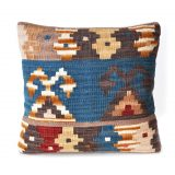 "18""x18"" Hand-woven Wool Kilim Pillow Cover 12980792"