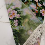 """1'3""""W x 1'10""""H Handmade Wool and Silk Birds in Blooming Tree Persian Tableau Rug Tapestry Wall Hanging 12980814"""