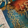 "2'7""W x 1'7""H Handmade Religious Arabic Quran Wool and Silk Persian Tableau Rug Tapestry Wall Hanging 12980802"