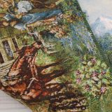 """3'1""""W x 1'8""""H Handmade Wool and Silk Farsh Manzareh Cottage Scenery Persian Tableau Rug Tapestry Wall Hanging 12980820"""
