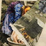 "3'1""W x 2'2""H Handmade Wool and Silk Tribal Vigale Showering Persian Tableau Rug Tapestry Wall Hanging 12980821"