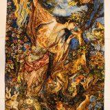 "2'1""W x 3'5""H Handmade Wool and Silk FARSH MINIATOR Farshchian Rostan Persian Tableau Rug Tapestry Wall Hanging 12980827"