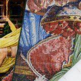 "2'2""W x 2'10""H Handmade Wool and Silk QAJAR GIRL Persian Tableau Rug Tapestry Wall Hanging 12980824"