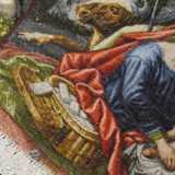 """3'1""""W x 2'H Handmade Wool and Silk JESUS MARY SACRIFISE Persian Tableau Rug Tapestry Wall Hanging 12980840"""