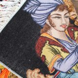 """3'2""""W x 2'2""""H Handmade Wool and Silk Lover and Wine Persian Tableau Rug Tapestry Wall Hanging 12980861"""