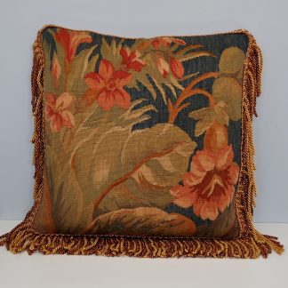 "18"" x 18"" Antique Look Handmade Custom Gobelins Tapestry Weave Wool Aubusson Pillow Case Cushion Cover 12980878"