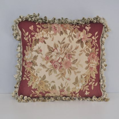 "18"" x 18"" Handmade Gobelins Tapestry Weave Wool Aubusson Pillow Case Cushion Cover 12980880"