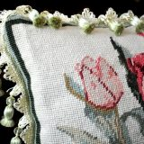 Needlepoint Pillow Corner