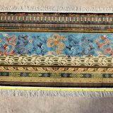 "4' x 7'6"" Hand-knotted Silk Chinese Nine Dragon Screen (九龙壁) Rug Tapestry Wall Hanging 12980885"