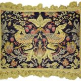 "14"" x 18"" Handmade Wool Needlepoint Petit Point William Morris Yellow Birds Pillow 12980890"