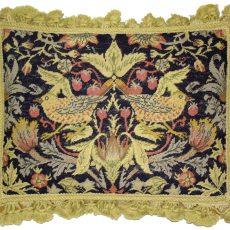 "14"" x 18"" Handmade Wool Needlepoint Petit Point William Morris Yellow Birds Pillow 12980890"