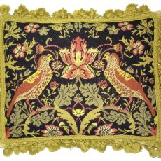 14 x 18 Handmade Wool Needlepoint Petit Point William Morris Yellow Birds Pillow 12980891