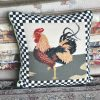 """16"""" x 16"""" Handmade Wool Needlepoint Country Rooster Cushion Cover Pillow Case 12980894"""