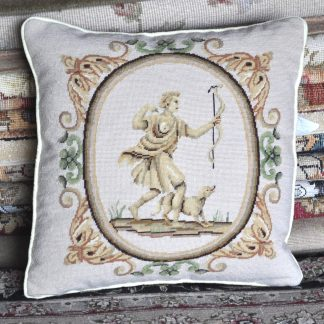 "16"" x 16"" Handmade Wool Needlepoint Petitpoint Cushion Cover Pillow Case 12980895"