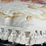 "20"" x 20"" Antique Reproduction Handmade Gobelins Tapestry Weave Wool/Silk Aubusson Pillow Cover 12980898"