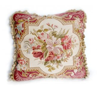 18 x 18 Handmade French Gobelins Tapestry Weave Wool Aubusson Cushion Cover Pillow Case 12980901