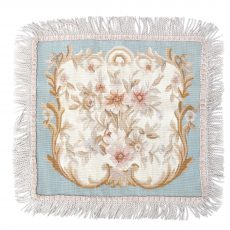 "18""x18"" Blue Aubusson Pillow Cover 12980901"