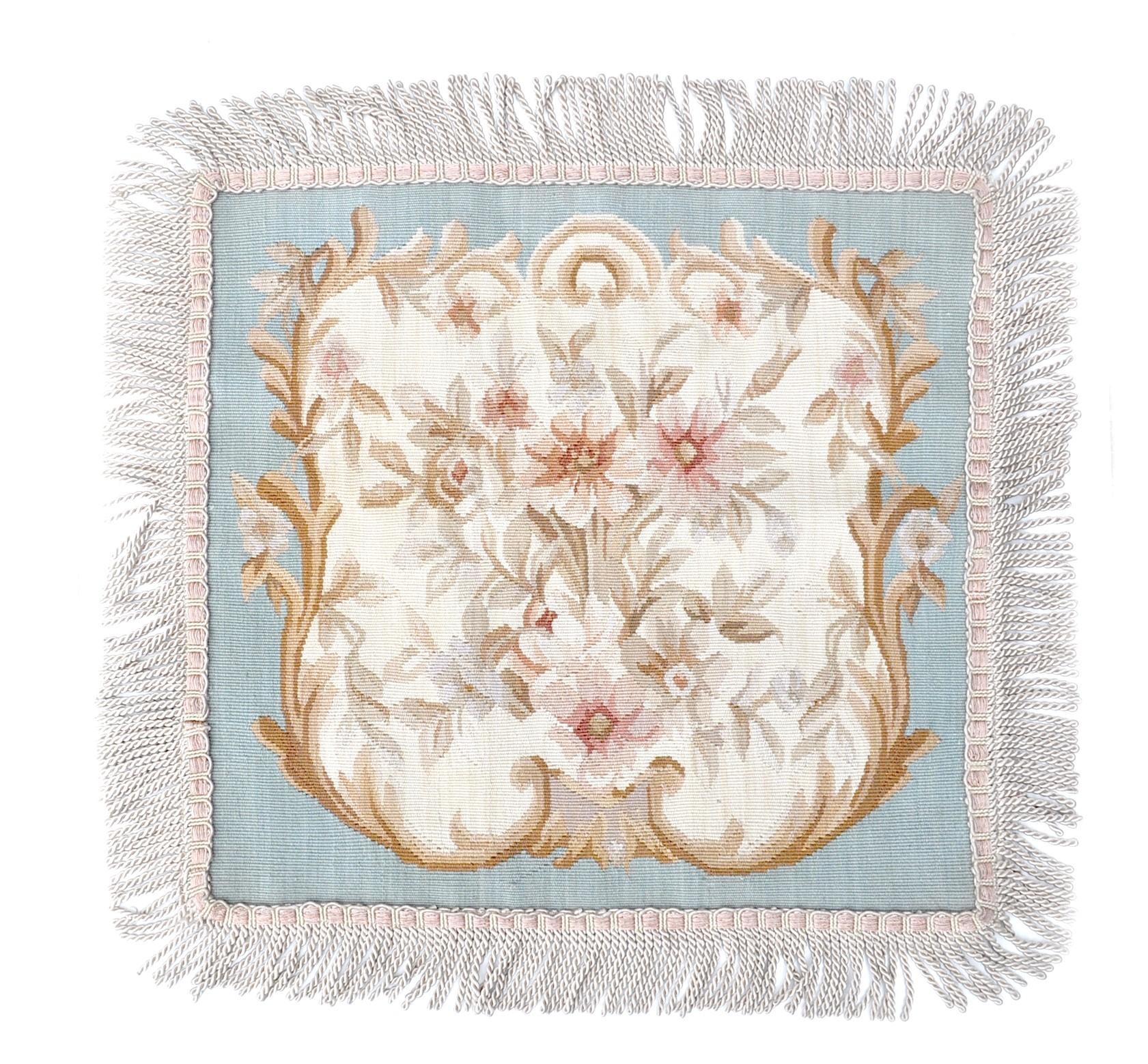 18″x18″ Blue Aubusson Pillow Cover 12980901