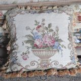 "16"" x 16"" Handmade Wool Needlepoint Urn Flowers Roses Cushion Cover Pillow Case 12980902"