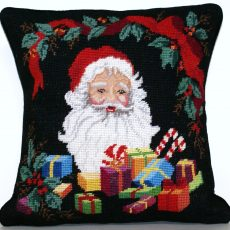 "14""x14"" Needlepoint Santa Claus Pillow Cover 12980912"