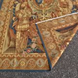 6′W x 9′H Handwoven Aubusson Tapestry Armorial Coat of Arms Wall Hanging Rug 12980786