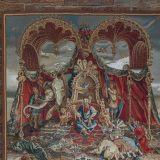 """6'8""""W x 7'11""""H The Audience of the Emperor Handwoven Renaisance Aubusson Tapestry Wall Hanging 12980914"""
