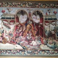 8'3W x 11'5H The Audience of the Emperor Aubusson Tapestry 12980913