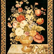 "2'6""W x 4'2""H Baroque Still Life Handwoven Aubusson Tapestry 12980915"
