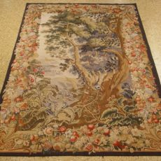 3′6″W x 5′6″H Verdure Hand-woven French Aubusson Tapestry 12980945