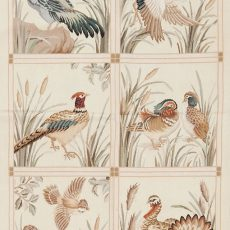 3′W x 5′H Hand-woven Pheasant Wool French Aubusson Tapestry Wall Hanging 12980318