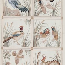 4′W x 6′H Hand-woven Pheasant Wool French Aubusson Tapestry Wall Hanging 12980338