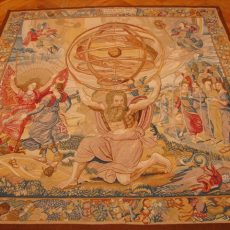 5′2″W x 5′10″H Hercules Holding up the Sky Hand-woven French Aubusson Tapestry 12980946