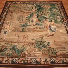 5′4″W x 6′8″H Hand-woven French Aubusson Tapestry 12980952